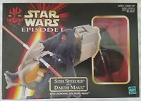 STAR WARS EPISODE I SITH SPEEDER AND DARTH MAUL WITH LAUNCHING SITH PROBE DROID