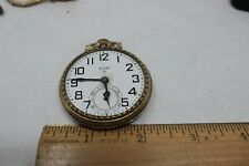 VINTAGE 16 SIZE ELGIN POCKET WATCH GRADE 616 MONTEGOMERY DIAL SERVICED