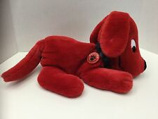"""Dakin Clifford the Big Red Dog Hand Plush Puppet Laying Full Body 13"""" Toy 1991"""