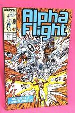 Alpha Flight #57 Against Living World Jim Lee Art Comic Marvel Comics F/F+
