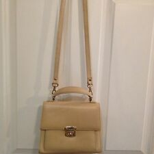 Talbots Leather Handbag Textured  Embossed Leather. Small Beige crossbody  Purse