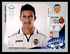 Panini Liga de Campeones 2012-2013 Ricardo Costa Valencia CF no. 396