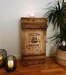 Frachtkiste Whisky & Wein Barschrank Vintage Minibar Tisch Stehtisch Kiste