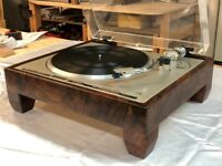 Pioneer PL-560 Turntable - PL400, PL540, PL518,PL630 SOLID Walnut Wood Cabinet