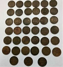 Canada King George V 1929 Small Cent Pennies Lot of 39 Pieces Better Year VG-VF