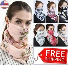 Women's Face Mask Cover Reusable Scarf Washable Summer Outdoor Sun Protection US