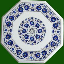 Lapis Lazuli Stone Inlay Art Sofa Table Top Marble Coffee Table for Home 21 Inch