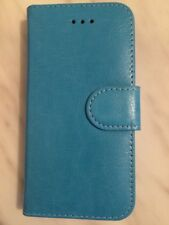 Blue Premium Leather Wallet Book Case Cover For Apple iPhone 5S/5c/5se