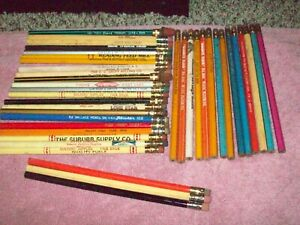 40 vintage advertising pencils all unused unsharpened