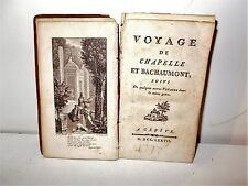 Voyage de Chapelle et Bachaumont - Genève, 1777
