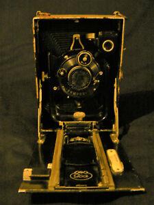 Ancien appareil photo à soufflet ICA  Compur Carl Zeiss circa 1924