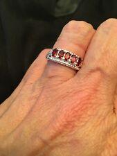 Orissa Rhodolite Garnet 5 stone Ring size 8. 1.5 cts