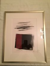TOKO SHINODA Japanese Lithographic Print - HIDDEN TEXT - With Hand Added Color