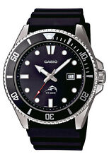 Casio MDV106-1AV Men's Duro 200M Black Resin Band Black Dial Analog Dive Watch