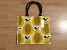 BNWT ORLA KIELY YELLOW PEAR PRINT JUTE SHOPPING BAG