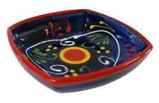 Deep Square Tapas Dish Bowl 11 cm Traditional Spanish Handmade Ceramic Pottery