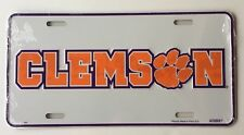 CLEMSON TIGERS CAR TRUCK TAG LICENSE PLATE METAL UNIVERSITY SIGN DEATH VALLEY