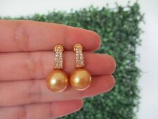 .54 Carat Diamond Yellow Gold Earrings 18k sep (SE547)