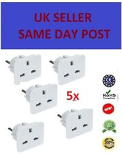 5 Travel Adaptor UK to EU Pin Convert Power European Plug Converter Euro Charger