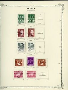 SWEDEN Scott Specialty Album Page Lot #32 - SEE SCAN - $$$