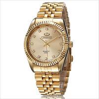 High Quality Fashion Men watch gold Stainless Steel Quartz watches Wrist Watchs