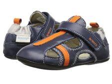 NIB ROBEEZ Mini Shoez Shoes Rugged Rob Blue Orange 3-6m 2