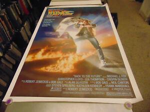 BACK TO THE FUTURE/RARE ORIG. U.S. ONE SHEET MOVIE POSTER (MICHAEL J. FOX) N3577