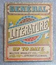 old Milton Bradley card game General Literature