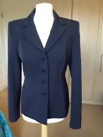 GERRY WEBBER LADIES DESIGNER TAILORED BLACK BLAZER JACKET WORK, OFFICE, UK 10