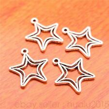 50 pieces 20*18mm Charms Five Star Pendants Silver Jewelry Findings 7069H