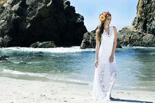 "NIGHTCAP ""BELLA BEACH"" WHITE LACE BRIDAL MAXI DRESS XS"