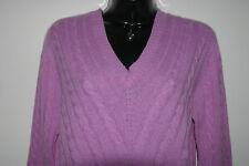 Kirkland Signature L/S V Neck Italian Cashmere Sweater Lilac Pink Medium NWT