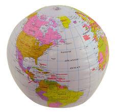 2x gonfiabile MAPPAMONDO 40 cm-saltare ATLANTE Mappa del mondo della terra-Teaching Aid