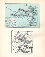 MAP/BATTLE PLAN TRAFALGAR 21 Oct 1805 (SHIPS) & WATERLOO CAMPAIGN