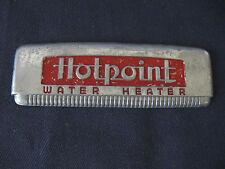 "Vintage  ""HOTPOINT""  Emblem METAL APPLIANCE CHROME RED"