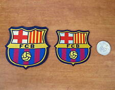 New 2 Sizes Fcb Barcelona Soccer Fabric Iron On Patches