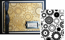 Darice Embossing Folders STEAM PUNK GEARS folder 1217-54 Cuttlebug Compatible