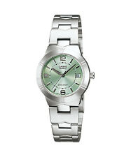 Casio LTP1241D-3A Women's Metal Fashion with Date Green Dial Analog Watch
