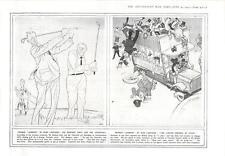 1915 Caricatures German Humour In War Cartoons Grey Churchill State Omnibus