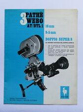 Cinema - Catalogo Epoca - Brochure Cinepresa Pathè Webo AT/BTL1 - 1970 ca