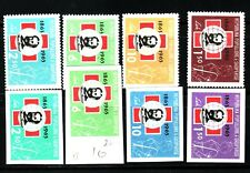 ALBANIA Sc 649-52 NH PERF & IMPERF ISSUE OF 1963 - RED CROSS