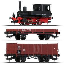 Fleischmann 631881-1 H0 Dampflok BR 98.75 mit Güterzug ++ NEU ++