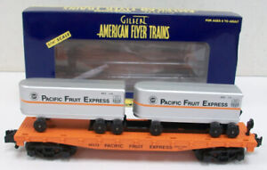 American Flyer 6-48533 S Pacific Fruit Express Flatcar with Piggyback Trailers