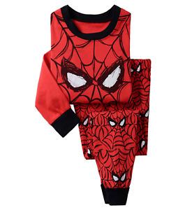 Boys Spiderman Pyjamas PJS Set Character Nightwear 2-7 yrs