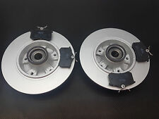 RENAULT MEGANE MK3 08-12 REAR 2 BRAKE DISCS PADS FITTED WHEEL BEARINGS ABS RINGS