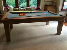 *SUPERPOOL*  'NATURAL' Solid Timber Diner Pool Table (Shipping To Europe Now)