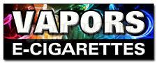 "24"" VAPORS E-CIGARETTES DECAL sticker pipe e-liquid flavor concentrates nicotine"