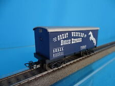 Marklin US Four axled Freight car Great Western Horse Express Blue