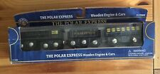 Lionel Wooden Train Polar Express Engine & Cars! New! Thomas Brio