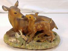 New Listing1979 Sweet Deer Mother & Fawn Ceramic Figure Vintage Homco Masterpiece Porcelain